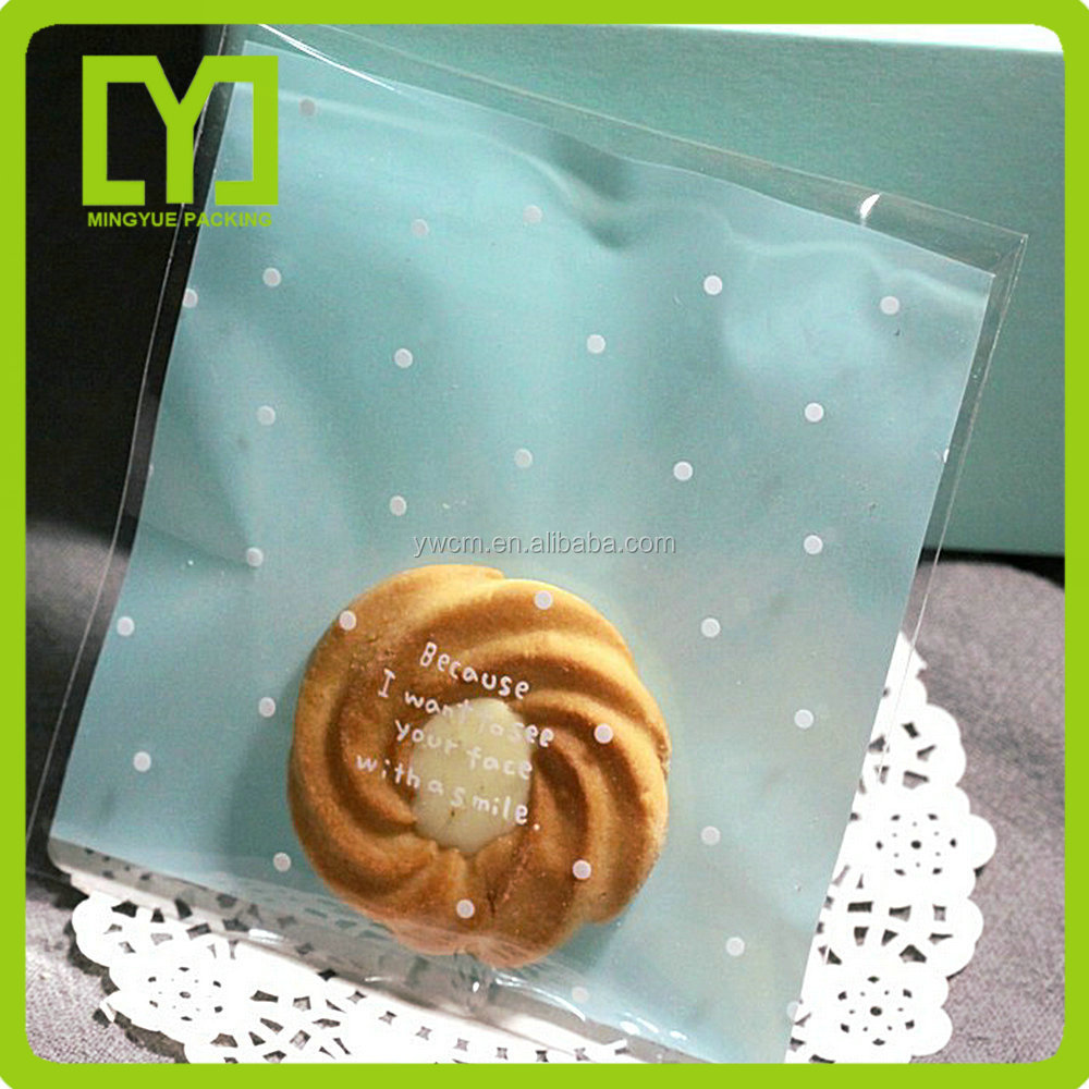 opp transparent plastic bags for cookies