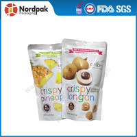 Stand up pouch with zipper food packaging bags for nuts sugar cookies