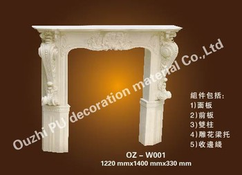 High quality pu decorative fireplace for home decor