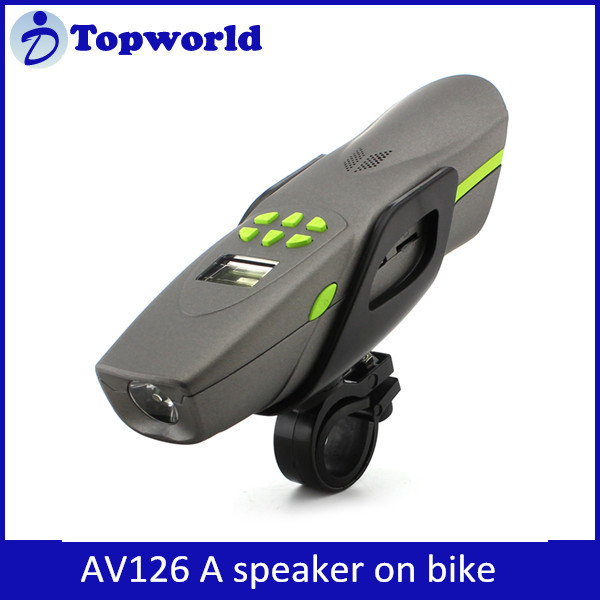 Fashion Design Multi Functions Excellent Sound AV126 Wireless Bicycle Bluetooth Speaker with LED Light