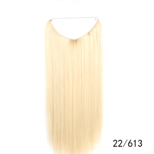 Hair extension with micro bead on fish wire, high quality wholesale best halo hair extensions