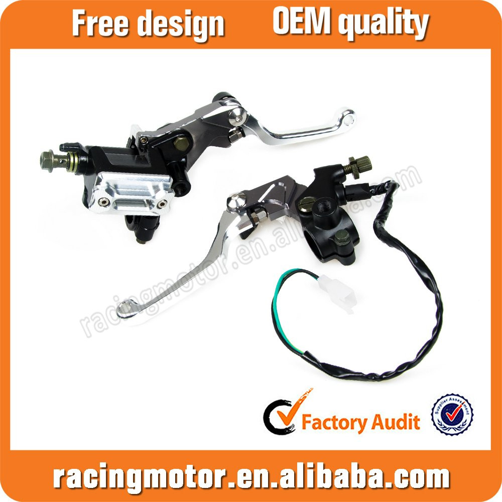 "CNC 7/8"" Brake Master Cylinder Cable Clutch Levers For Kawasaki KX 125/250/250F/450F"