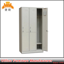 Top sale perfect high quality clothes storage horizontal 3 door steel staff bedroom wardrobe locker