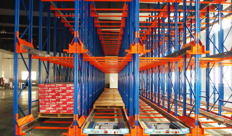 Drive in Storage Pallet Racking , Powder Coating Steel Long Span Shelving For Food