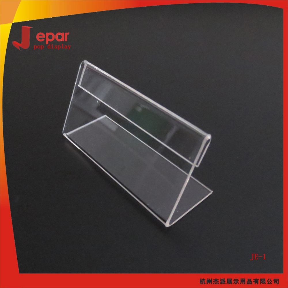 Shop acrylic display stand for price display