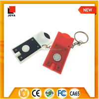 New Arriving LED Torch Coin holder keylight Key Ring led keychain light