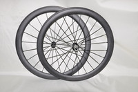 700c Chinese carbon wheels DENGFU 50mm clincher wheels 25mm width rim available for Novatec hubs CN spokes all black
