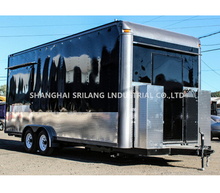 Hot dog mobile food trailer SL6S Coffee Food Cart Large food truck Configuration brakes