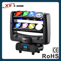 Economic new arrival 12w 8pcs rgbw 4-in1 spider led moving head stage effect lighting