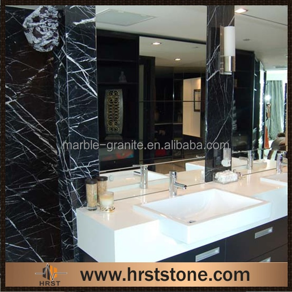 black marquina crushed marble lava stone