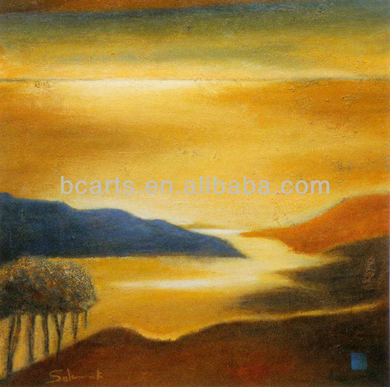 Spanish Natural Scenery Picture View of Costa Brava Oil Paintings