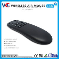 anti shake design 2.4G wireless flying air keyboard mouse with infrared remote control VMK-41