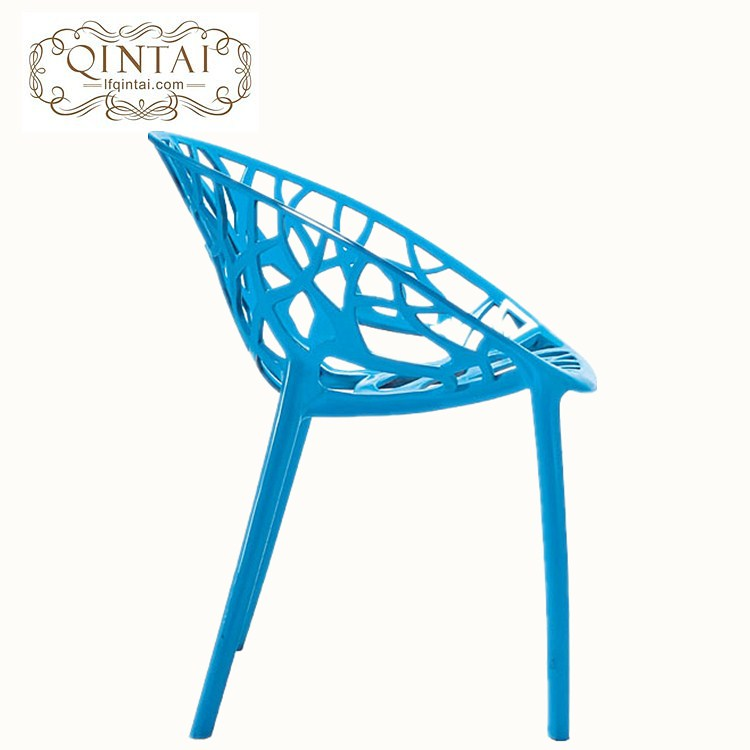 Wholesale cheap good quality hot selling stackable creative design blue round egg chair plastic branch leisure chair with arm