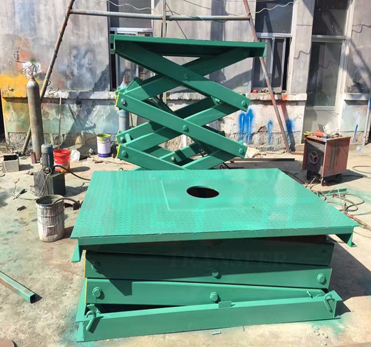 Manufacturer directly air hydraulic scissor lift table for warehouse