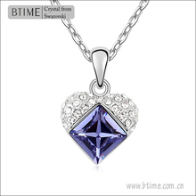 Made with Swarovski Element Austria Crystal Heart Pendant Necklace Jewelry