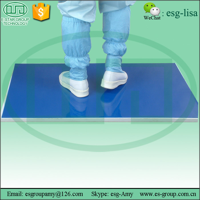 Blue Cleanroom Washable Sticky Mat Disposable Esd Floor Mat