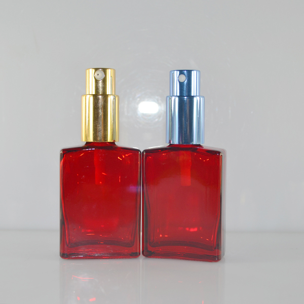 Hot design unique red 30ml 1 oz rectangular perfume bottle for e cigarette