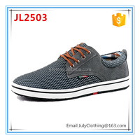 2017 Summer china factory customized high quality suede upper man summer mesh shoes summer breathable lace-up sport casual shoe