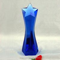 Creative cobalt blue crystal star trophy award