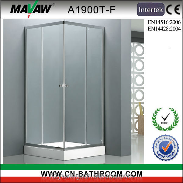cheapest and durable square shaped tempered glass sliding shower enclosure/shower room/shower cabin A1900T-F with CE certificate