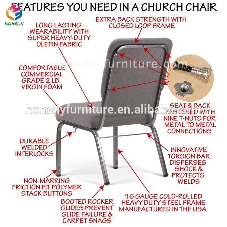 Cheap Wholesale Used Modern Rental Pastor Upholstered Purple Red Stack Back Pocket Interlocking Padded Church Chair