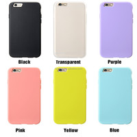 Classic hot sale phone case, colorful soft TPU case cover for Apple iPhone 4s / 4