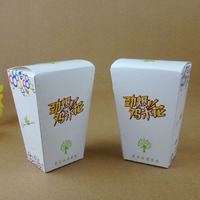Nontoxic paper disposable fried chicken packaging box