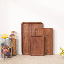 Multifunction wooden dinnerware dishes plate food serving tray set