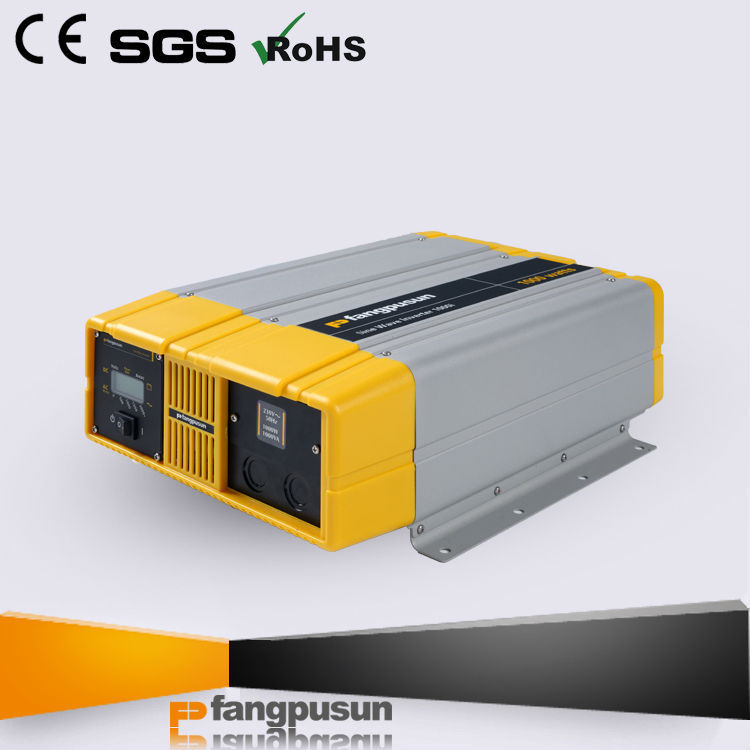TOP efficiency Backlit LCD display 12V 220V pure sine wave inverter
