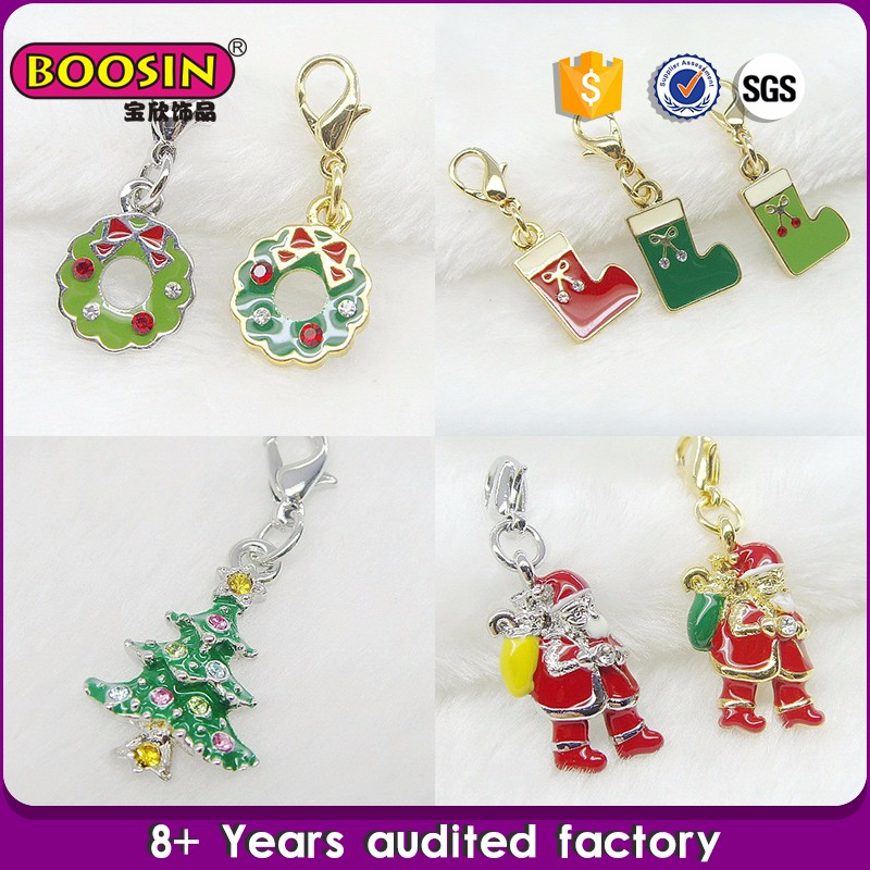 Fashion Jewelry Latest Christmas jewellery supplies charms