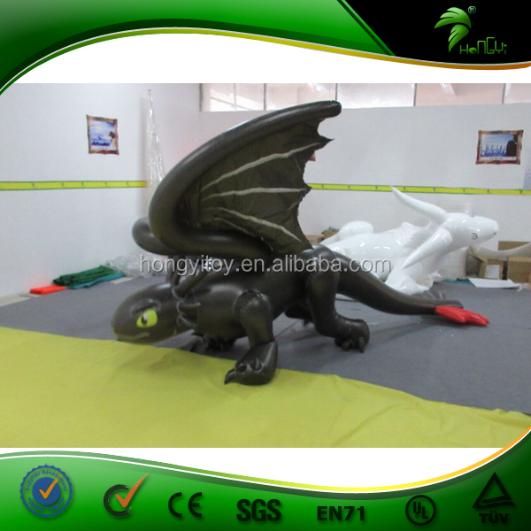 2015 Hot Sell! Inflatable Black Toothless Costume / Inflatable Black Dragon Suit