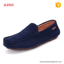 Professional factory genuine leather all kind man moccasin driving flat shoes