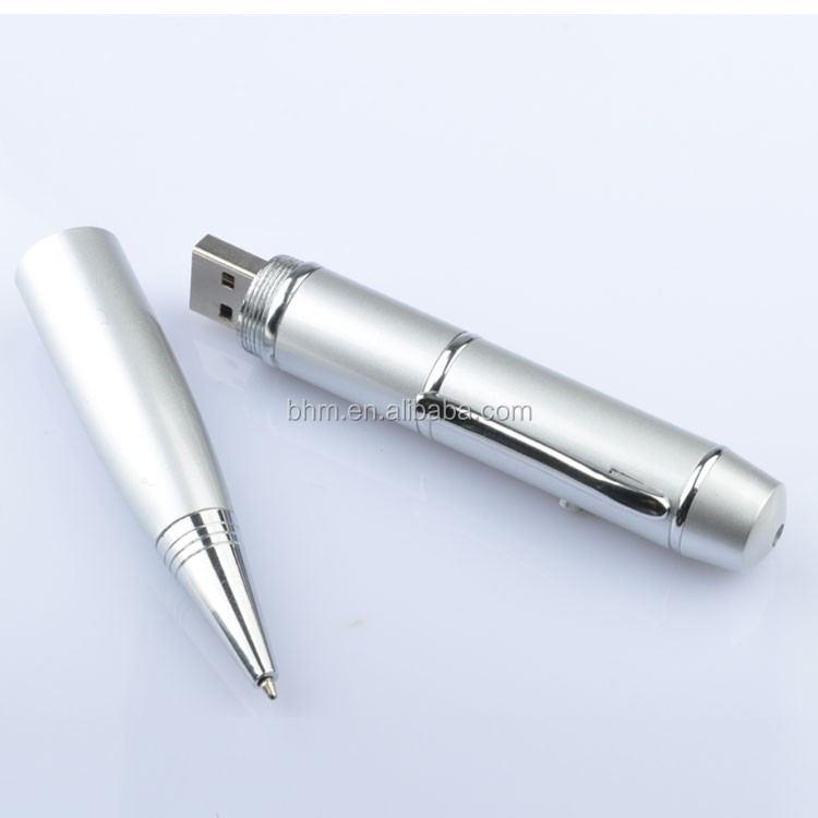 Metal business Multi Function USB Flash Drive Pen And Laser pointer pomotional gift u disk