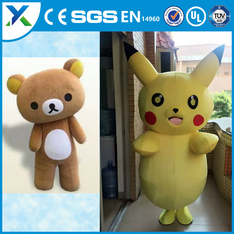 High quality cartoon character plush toys bikachu plush toys for advertising promotion event