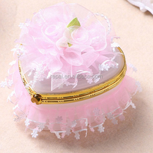 Baby shower favor plastic heart shaped acrylic box for decoration candy box jewel case