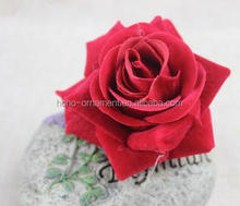 popular handmade silk fabric red rose flower brooches cheap artificial corsage for travling