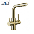 Double Handle Three Way Control Kitchen Faucet