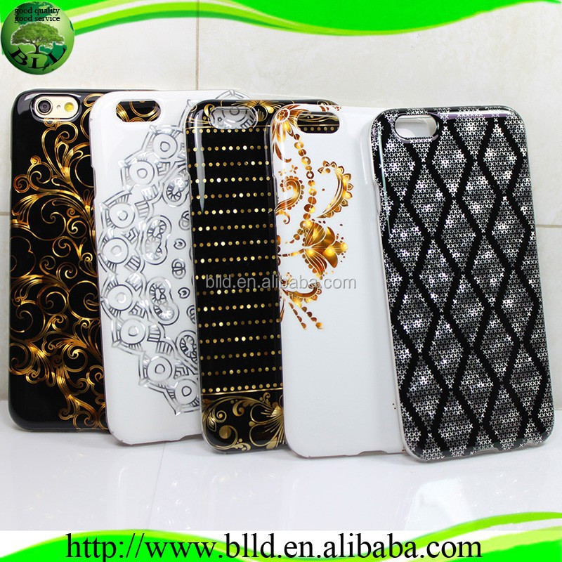 Gilding TPU Design phone cover,High quality Cell phone cover,Mobile Phone Cover For Iphone 6 plus