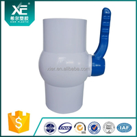 China Supplier PVC Screwed Ball Valve Grey Color PP Ball with PVC Long Handle For Water Treatment Equipments