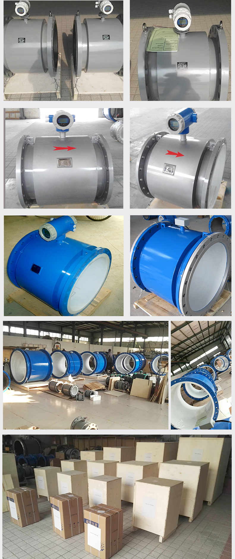 Durable and anti-corrosion water oil tank electromagnetic flowmeter