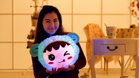 Hot sale led glowing plush food toy pillows