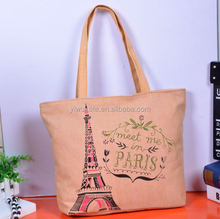 2018 Beautiful Wholesale Tote Shopping Bag For Life Custom Canvas Gift With Paris KC411