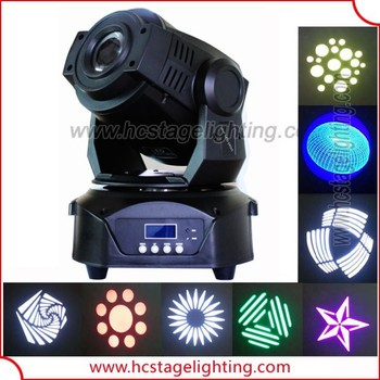 stage spot lights 75w gobo led moving light projector