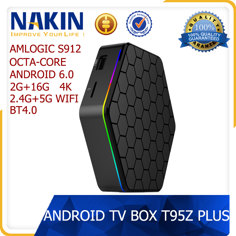 T95Z Plus amlogic s912 octa core android 6.0 ram 2gb rom 16gb 2.4G/5G wifi 4k kodi tv box