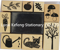 various colors wooden rubber kids toy stamps in KF