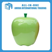 2015 high quality the new creative apple shape plastic storage box