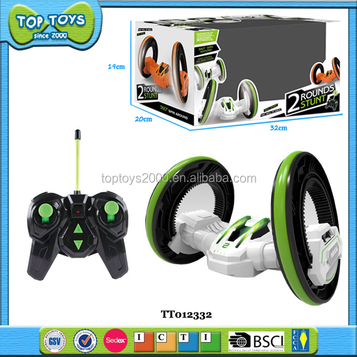 2 Rounds flip stunt car remote control toy 360-degree spin around cars