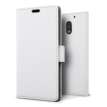 C&T Slim PU Leather Flip Protective Magnetic Wallet Cover Case for Motorola Moto E 3rd Generation
