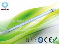 Compact fluorescent light nano reflector & luminous evenly t5 in t8
