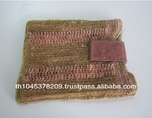 HANDKNITTING HANDCRAFT IPAD CASE MADE FROM HEMP FIBER THAILAND